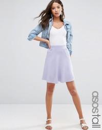 Короткая расклешенная юбка с карманами ASOS TALL - Сиреневый