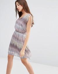 Платье с принтом Lavand - Серый