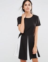 Короткое приталенное платье со складками Daisy Street
