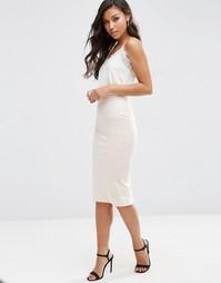 Платье-сорочка миди с мягким топом ASOS
