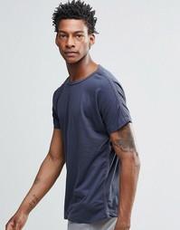Темно-синяя футболка YMC - Темно-синий