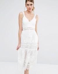 Платье Self Portrait - Белый