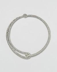 Металлическое ожерелье-чокер с застежкой Missguided - Серебряный