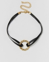 Ожерелье-чокер с подвеской Missgudied - Золотой Missguided