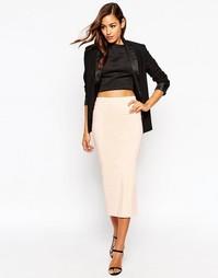 Удлиненная юбка‑карандаш ASOS - Телесный