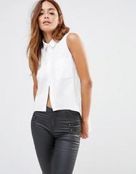 Асимметричная рубашка Noisy May - Снежно-белый
