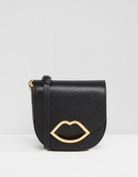 Кожаная сумка через плечо Lulu Guinness Small Amy - Черный