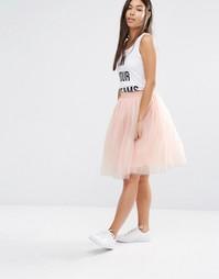 Тюлевая юбка Boohoo - Розовый
