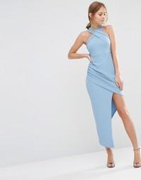 Платье без рукавов с асимметричной юбкой Ginger Fizz - Синий