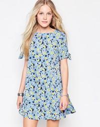 Платье с цветочным принтом Influence - Синий