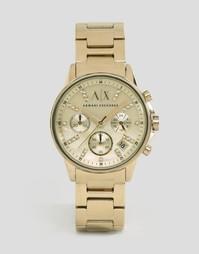 Золотистые часы Armani Exchange Lady Banks AX4327 - Золотой