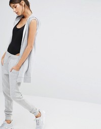 Удлиненное худи без рукавов Missguided - Серый