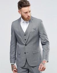 Приталенный пиджак Harry Brown - Серый