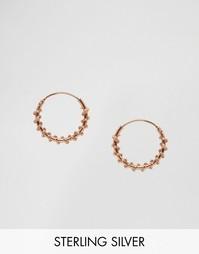 Серебряные серьги‑кольца 14 мм с витым дизайном Kingsley Ryan