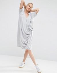 Платье с драпировкой ASOS WHITE - Серый