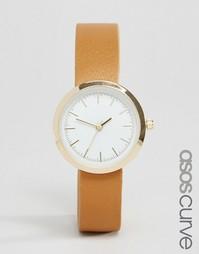 Часы с минималистским дизайном ASOS CURVE - Рыжий