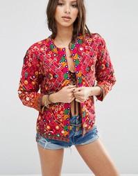 Куртка с зеркальной и бисерной отделкой ASOS - Мульти
