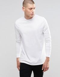 Белый удлиненный лонгслив ASOS - Белый