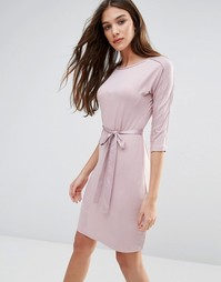 Белое платье с рукавами 3/4 Lavand - Розовый