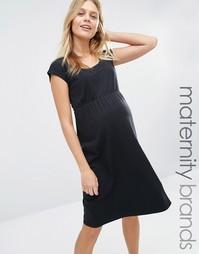 Платье для беременных Mamalicious Peri - Черный Mama.Licious