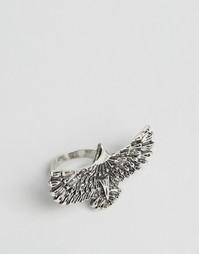 Полированное серебристое кольцо с орлом ASOS - Серебряный