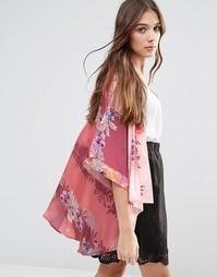 Кимоно с цветочным принтом Lavand - Розовый