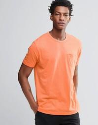 Футболка с карманом на груди YMC - Оранжевый