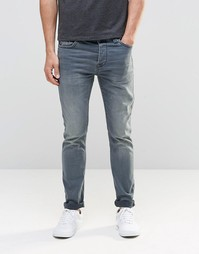 Прямы выбеленные джинсы Jack & Jones - Умеренный синий