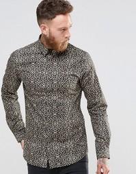 Облегающая рубашка с леопардовым принтом Noose & Monkey - Золотой