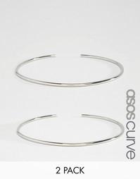 Набор из 2 браслетов на верхнюю часть руки ASOS CURVE - Родий