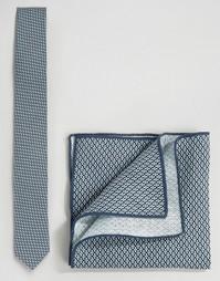 Набор из галстука и платка для нагрудного кармана Minimum - Синий