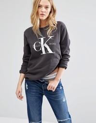Свитшот с логотипом Calvin Klein Jeans - Черный