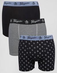 3 пары боксеров-брифов Original Penguin - Черный