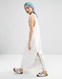 Платье макси с молнией ASOS WHITE - Белый