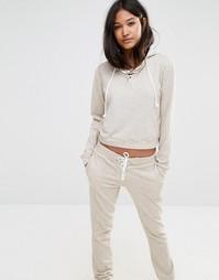 Oversize-худи со шнуровкой Glamorous - Телесный