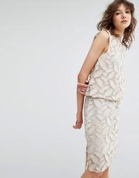 Платье с аппликацией Samsoe & Samsoe Mayer - Бежевый Samsøe &; Samsøe