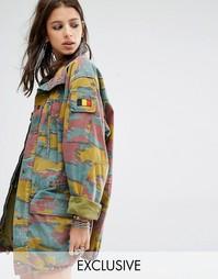 Свободная куртка в стиле милитари Milk It Vintage - Мульти