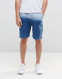 Трикотажные шорты цвета индиго с эффектом деграде Native Youth - Серый