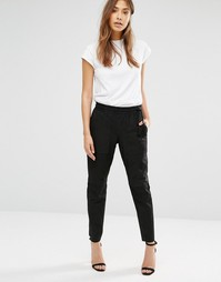 Кожаные брюки-галифе Muubaa Thornhil - Черный