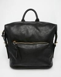 Рюкзак с клипсами на боку ASOS - Черный