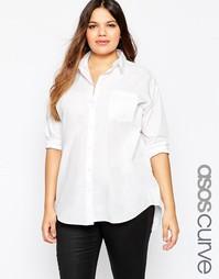 Рубашка бойфренда ASOS CURVE - Белый