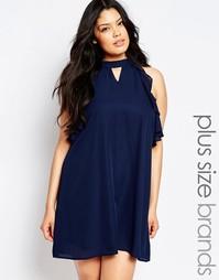 Цельнокройное платье без рукавов Truly You - Темно-синий