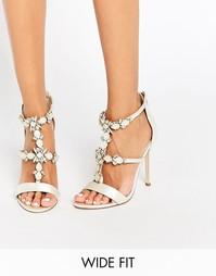 Декорированные сандалии на каблуке для широкой стопы ASOS HENDERSON Br