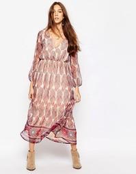 Платье макси с принтом пейсли Diya - Мульти
