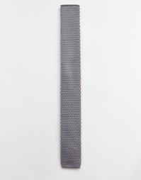 Вязаный галстук Selected Homme - Серый