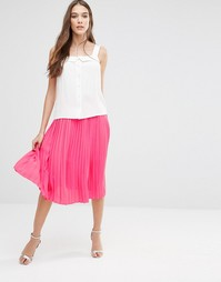 Розовая плиссированная юбка миди Lavand - Фуксия