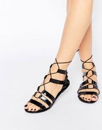 Сандалии на плоской подошве на шнурках Call It Spring Saberrah Ghillie