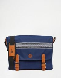 Темно-синяя сумка почтальона Mi-Pac - Оранжевый
