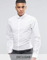 Облегающая рубашка в горошек Noak - Белый