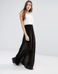 Полупрозрачное платье макси Lavand - Белый